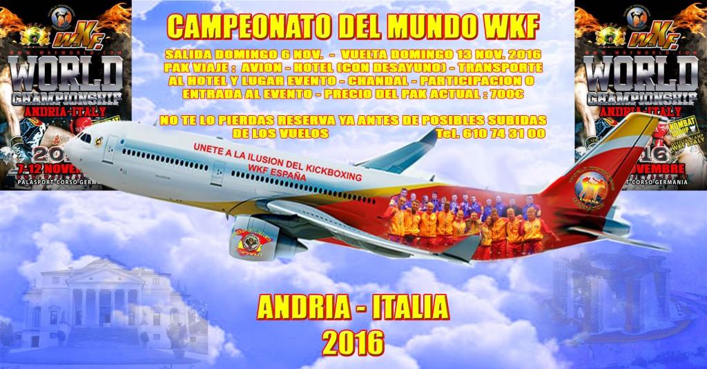 La Seleccion Española Participara en el Mundial WKF en Andria Italia